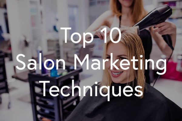 Salon marketing - Women's haircut by hairstylist in a hair salon