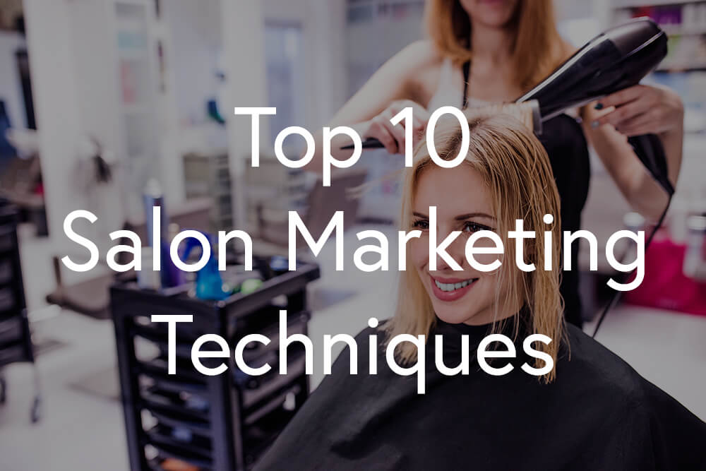 Salon marketing - Women's haircut by hairstylist in a hair salon
